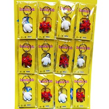 Baymax anime key chains set(12pcs a set)