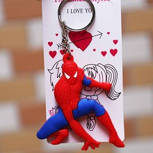 Spider Man anime two-sided key chain