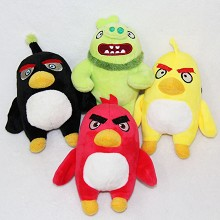 8inches Angry Birds anime plush dolls set(4pcs a set)