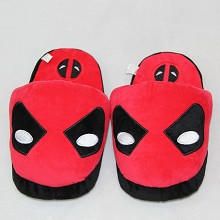 Deadpool anime plush slippers shoes a pair