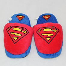 Super man anime plush slippers shoes a pair