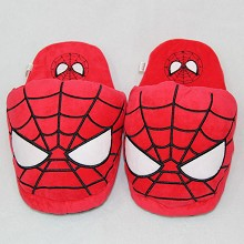 Spider man anime plush slippers shoes a pair