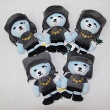 6inches Bigbang bear plush dolls set(5pcs a set)