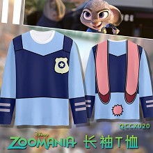 Zootopia anime modal long sleeve t-shirt