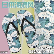 The anime slippers shoes a pair