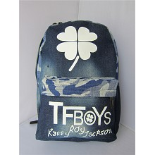 TFBOYS star backpack bag