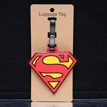 Super Man anime luggage tag