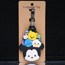 Disney anime luggage tag