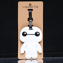 Baymax anime luggage tag