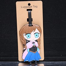 Frozen anime luggage tag