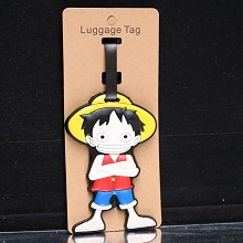 One Piece Luffy anime luggage tag