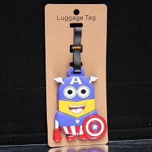 Despicable Me cos Captain America luggage tag
