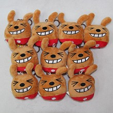 3.2inches Kakao friends plush dolls set(10pcs a set)