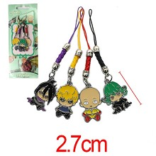 ONE PUNCH MAN anime phone straps a set