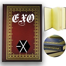 EXO star hard cover notebook(120pages)