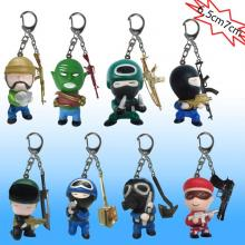 Cross Fire anime figure key chains set(8pcs a set)