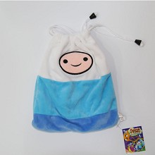 Adventure Time anime plush drawstring bag