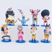 One piece anime figures set(8pcs a set)