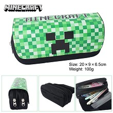 Minecraft multifunctional anime pen bag