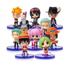 One piece anime figures(10pcs a set)