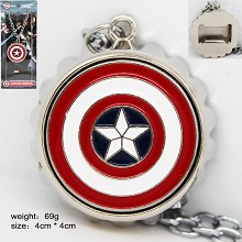 Captain America anime necklace