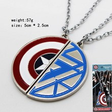 Captain America lovers necklaces a set