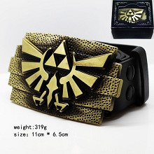 The Legend of Zelda sign belt