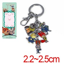 Zootopia anime key chain