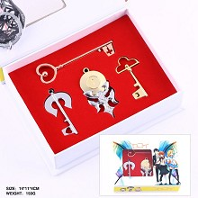 Nisekoi anime key chains set(4pcs a set)