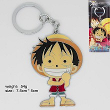 One Piece Luffy anime key chain