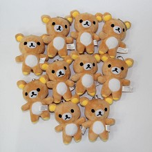 4.8inches Rilakkuma anime plush dolls set(10pcs a set)