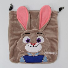 Zootopia anime plush drawstring bag