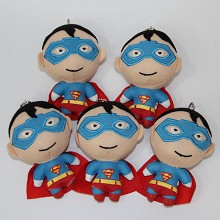 5.2inches Super man plush dolls set(5pcs a set)