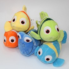 9inches Finding Nemo anime plush dolls set(5pcs a ...