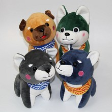 8inches Shiba Inu plush dolls set(4pcs a set)