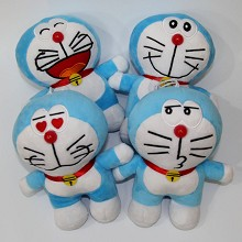 7inches Doraemon plush dolls set(4pcs a set)