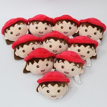 3.2inches Chi-bi Maruko anime plush dolls set(10pc...