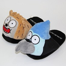 REGULAR SHOW plush slippers a pair