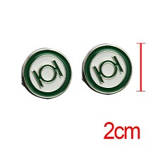 Green Lantern cufflink cuff sleeve button set(2pcs a set)