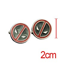 Deadpool cufflink cuff sleeve button set(2pcs a set)