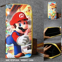 Super Mario anime long wallet