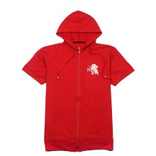 EVA anime cotton short sleeve hoodie