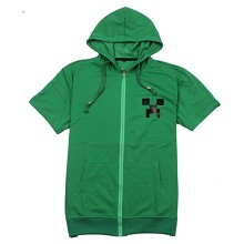 Minecraft anime cotton short sleeve hoodie