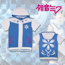 Hatsune Miku anime cotton short sleeve hoodie