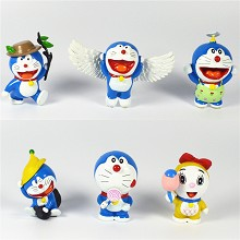 Doraemon anime figures set(6pcs a set)