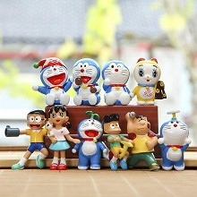 Doraemon anime figures set(10pcs a set)