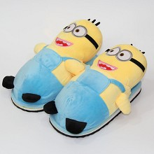 Despicable Me anime plush shoes slippers a pair