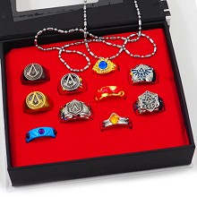 Assassin's Creed anime rings set(10pcs a set)