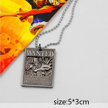One Piece ACE wanted anime necklace