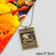 One Piece Robin wanted anime necklace